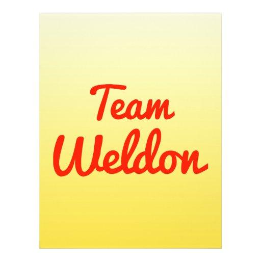 Team Weldon Custom Flyer