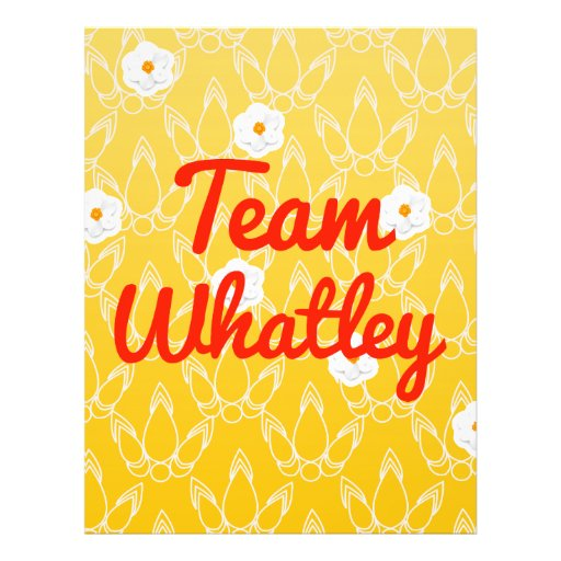 Team Whatley Full Color Flyer