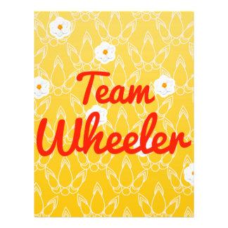 Team Wheeler Personalized Flyer