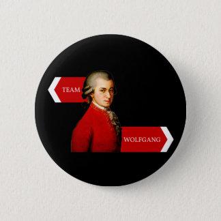 Team Wolfgang. Wolfgang Amadeus Mozart fan 2 Inch Round Button
