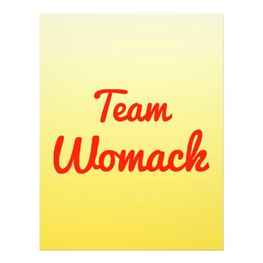 Team Womack Custom Flyer