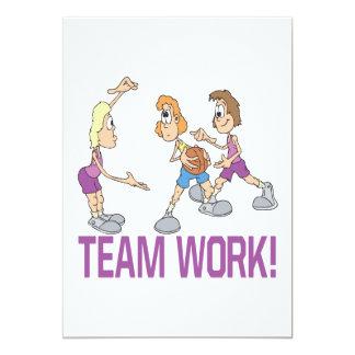 "Team Work 5"" X 7"" Invitation Card"