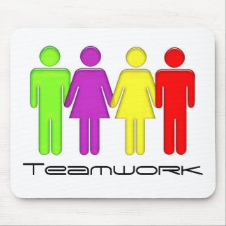 Team work coming together mouse pad