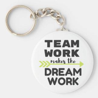 Team Work Makes the Dream Work Keychain