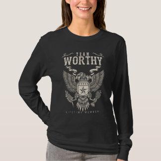 Team WORTHY Lifetime Member. Gift Birthday T-Shirt