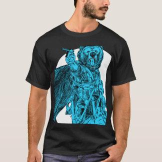 #Teamb3ar - Battlefield Bear Blue T-Shirt