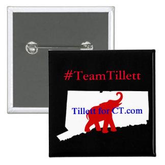 #TeamTillett Logo CT square Button