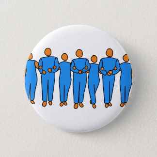 Teamwork 2 Inch Round Button