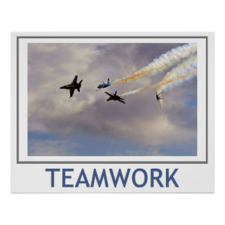 Teamwork Blue Angels Poster