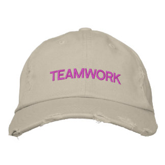 'TEAMWORK' CAP - Customized Embroidered Hat