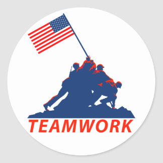Teamwork Classic Round Sticker