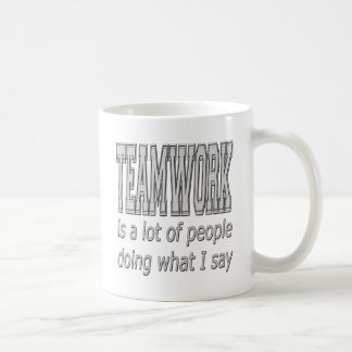 Teamwork Classic White Coffee Mug