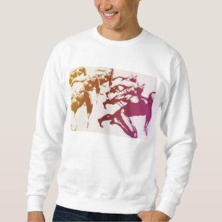 Teamwork Concept and People Running Sweatshirt