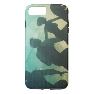 Teamwork Concept with Silhouette of Business Team iPhone 7 Plus Case