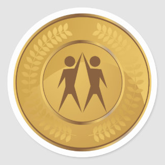 Teamwork Gold Medal Classic Round Sticker