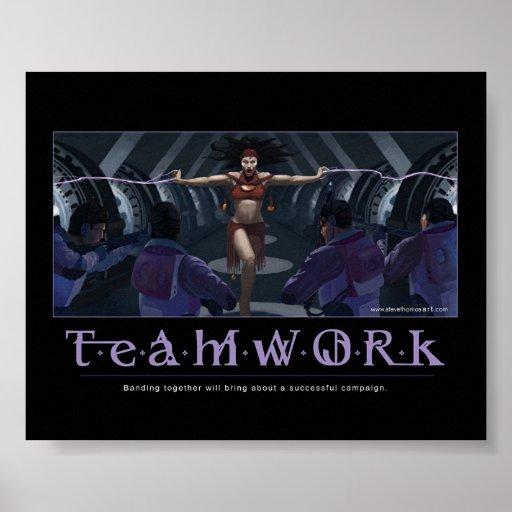 Teamwork Motivational Poster Zazzle Ca