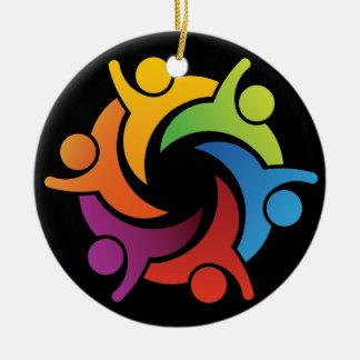 Teamwork - Unity - SRF Round Ceramic Ornament