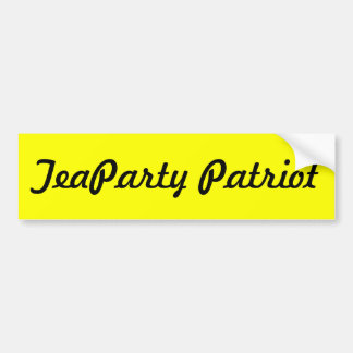 TeaParty Patriot Bumper Sticker