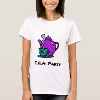 Teapot and Tea Party T-Shirt