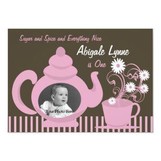 Teapot Birthday Photo Card