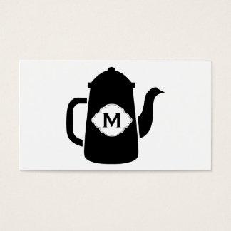 Teapot (black) business card