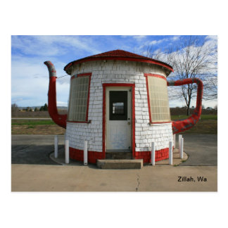 Teapot gas Station- Zillah, Washington Postcard