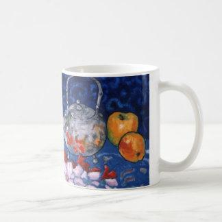Teapot & gladioli coffee mug