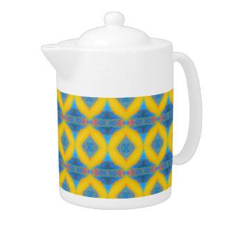 Teapot Gold Flower