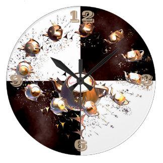 Teapot Party Large Clock