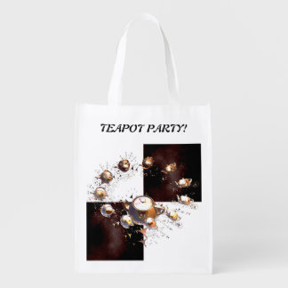 Teapot Party Reusable Grocery Bag