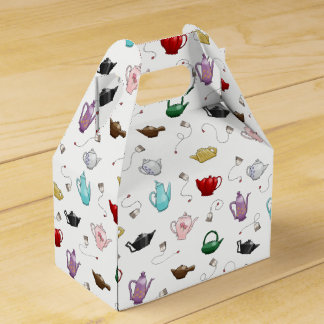 Teapot Pattern Gift Box Wedding Favor Box