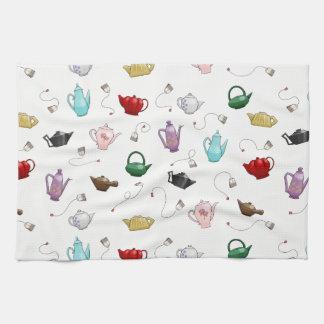 Teapot Pattern Kitchen Towel
