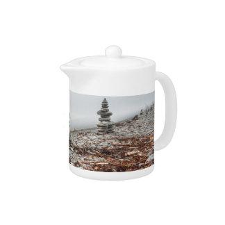 Teapot, photo inukshuk