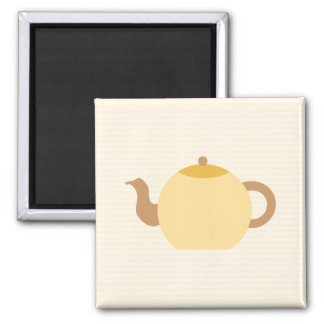 Teapot Picture in Neutral Colors. Square Magnet