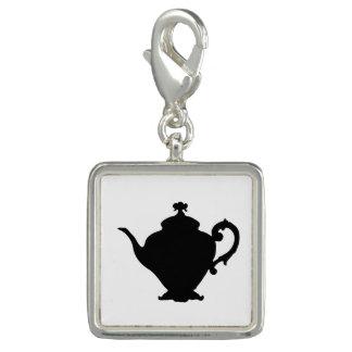 Teapot Silhouette Photo Charm