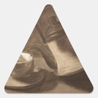 Teapot Still Life Triangle Sticker