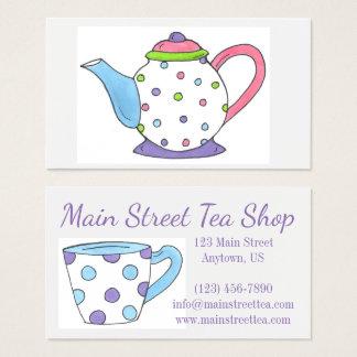 Teapot Tea Party Pot Teacup Cup Tea Time Business Card