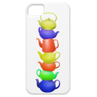 Teapot tower painted pattern iPhone 5 cover
