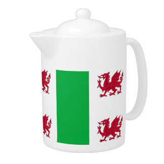 Teapot with Welsh dragon