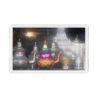 Teapots For Sale At Market Acrylic Tray