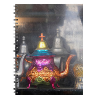 Teapots For Sale At Market Notebook