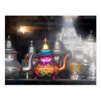 Teapots For Sale At Market Postcard