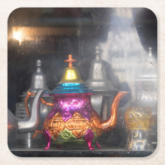 Teapots For Sale At Market Square Paper Coaster