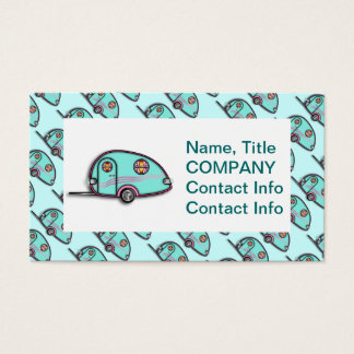 Tear Drop RV Trailer Business Cards