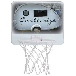 Teardrop gypsy caravan happy camping mini basketball hoop
