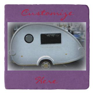 Teardrop gypsy caravan happy camping trivet