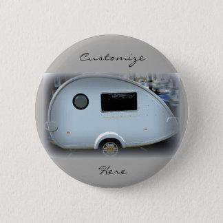 Teardrop gypsy caravan happy glamping 2 inch round button