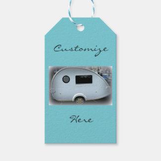 Teardrop gypsy caravan happy glamping gift tags