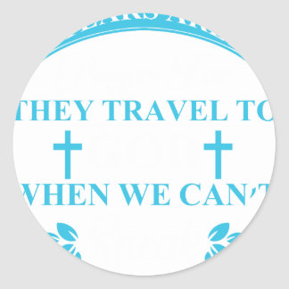 tears+are+prayers classic round sticker