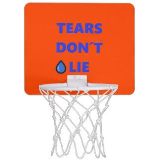 Tears Don't Lie Mini Basketball Hoop